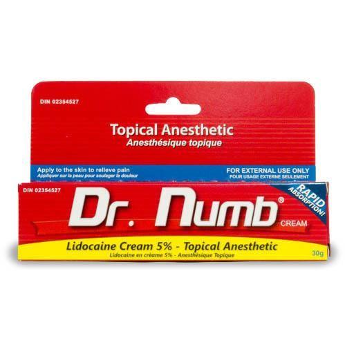 Crème anesthésiante Dr Numb