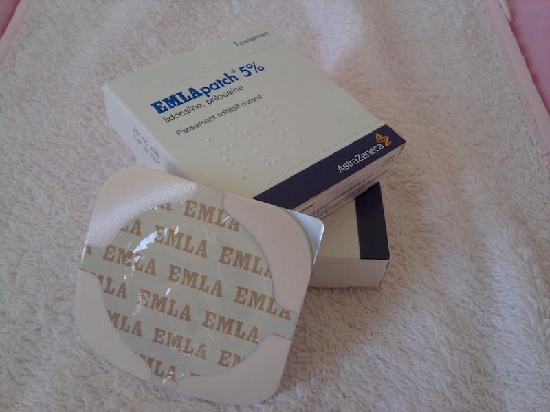 Présentation du patch anesthésiant Emla - Crème anesthésiante